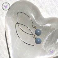 Angelite Silver Angled Earrings